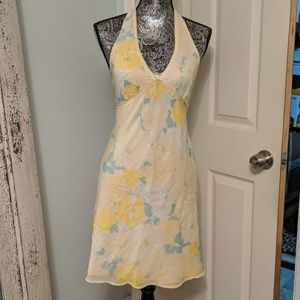 Free People yellow and blue floral dress sz 4